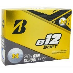 Bridgestone e12 Soft Collegiate Golf Balls University Of Michigan