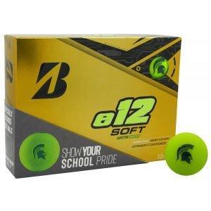 Bridgestone E12 Soft Collegiate Golf Balls - Michigan State Spartans Green