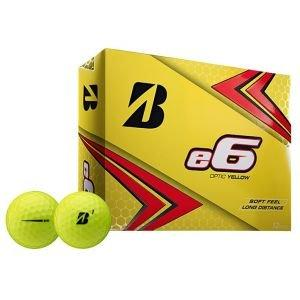 Bridgestone E6 Golf Balls - Yellow