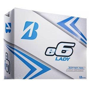 Bridgestone Womens E6 Lady Golf Balls - White
