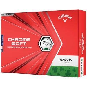 2021 Callaway Chrome Soft Truvis Shamrock Golf Balls Packaging