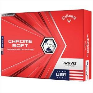 Callaway Limited Edition Chrome Soft USA Truvis USA Golf Balls 2020