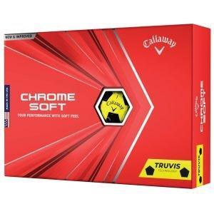 Callaway Chrome Soft Truvis Yellow Golf Balls 2021