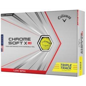 Callaway Chrome Soft X LS Triple Track Yellow Golf Balls Packaging