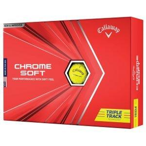 Callaway Chrome Soft Yellow Triple Track Golf Balls 2021