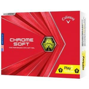Callaway Chrome Soft Truvis Play Yellow Golf Balls 2020
