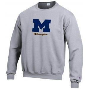 Champion University Of Michigan Fleece Crew Sweatshirt