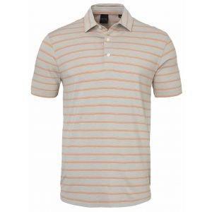 Dunning Paisley Natural Hand Golf Polo