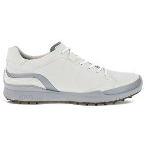 ECCO BIOM Hybrid Laced Golf Shoes White/Silver Metallic/White