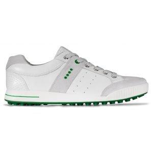Ecco Original Street Retro Golf Shoes - Concrete/White/Lawn Green
