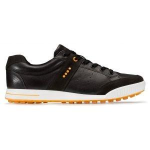 Ecco Original Street Retro Golf Shoes - Licorice/Coffee/Fanta