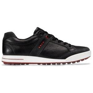 Ecco Original Street Retro Golf Shoes - Black/Chili Red