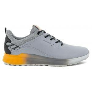 ECCO S-Three Spikeless Golf Shoes Silver/Grey