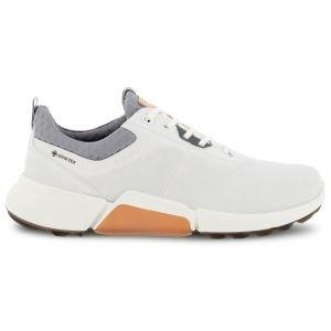 ECCO Womens BIOM H4 Golf Shoes White/Silver Grey