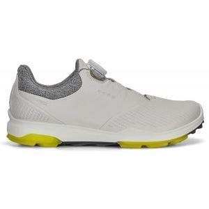 Ecco Womens BIOM Hybrid 3 Boa Golf Shoes - White/Canary
