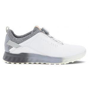ECCO Women's S-Three Boa Golf Shoes White/Silver Grey