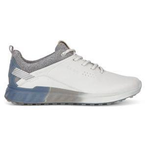 ECCO Women's S-Three Spikeless Golf Shoes White/Mirage
