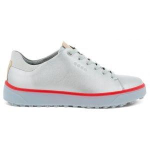 ECCO Women's Tray Laced Golf Shoes Alusilver