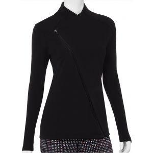 EPNY Womens Asymmetric Moto Style Golf Jacket