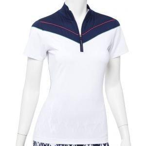 EPNY Women's Contrast Zip Mock Golf Polo