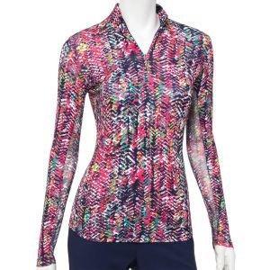 EPNY Ladies Multi Cultural Texture Print Golf Polo