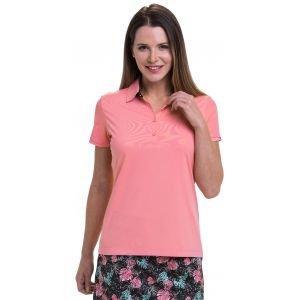 EPNY Women's Mesh Overlay Stripe Trim Golf Polo