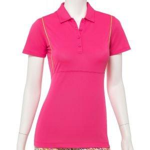 EPNY Women's Performance Pique Contrast Piping Golf Polo