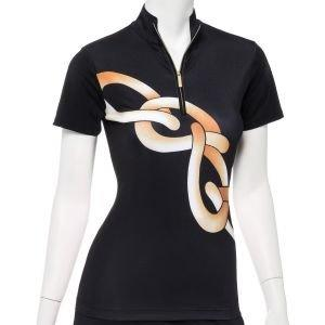 EPNY Women's Placed Exploded Chain Print Golf Polo