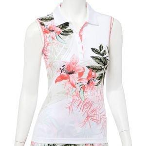 EPNY Women's Botanical Tropical Print Sleeveless Golf Polo