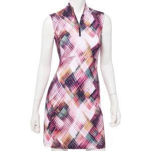 EPNY Women's Sleeveless Ethnic Argyle Plaid Golf Dress