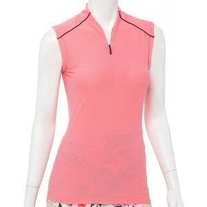 EPNY Women's Sleeveless Zip Mandarin Collar Golf Polo