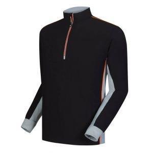 FootJoy 1/4 Zip Wind Shell Golf Pullover Black/Grey - 24687