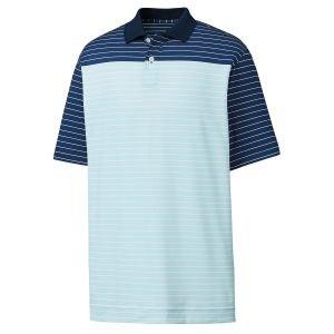 FootJoy Athletic Fit Lisle Color Block Stripe Knit Collar Golf Polo - 26207