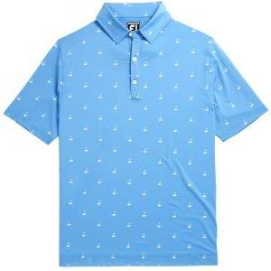 FootJoy Athletic Fit Lisle Golf Print Self Collar Golf Polo 26430