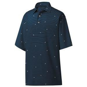 FootJoy Athletic Fit Lisle Stripe Self Collar Golf Polo 26213
