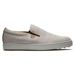 FootJoy Club Casual Slip-On Golf Shoes White/Silver
