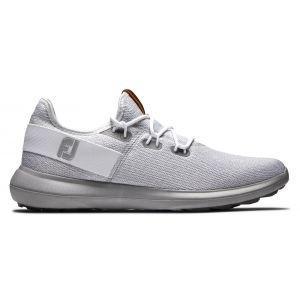 FootJoy Coastal Flex Golf Shoes White/Grey