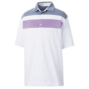 FootJoy Double Block Birdseye Pqiue Self Collar Golf Polo 26177