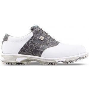 FootJoy Dryjoys Tour Golf Shoes White/Grey Croc - 53776