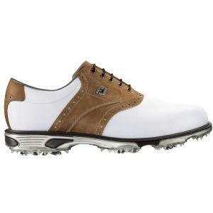 Footjoy Dryjoys Tour Golf Shoes 53699 Mens White Brown
