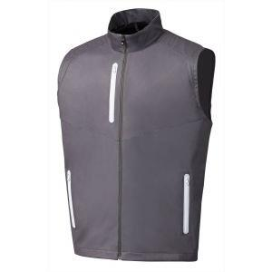 FootJoy Full-Zip Lightweight Softshell Golf Vest Charcoal - 25019