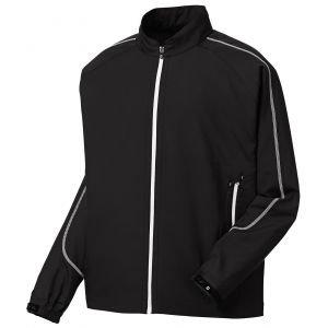 FootJoy Full-Zip Sport Golf Windshirt Black/White 32642
