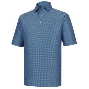 FootJoy Heather Lisle Houndstooth Golf Polo Navy