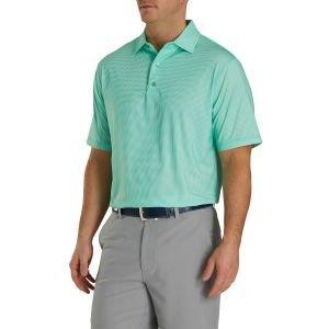 FootJoy Heather Lisle Houndstooth Self Collar Golf Polo