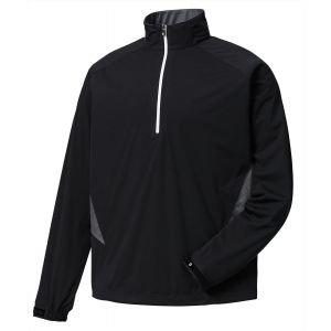 FootJoy Hydroknit Golf Pullover Black/Charcoal - 24789