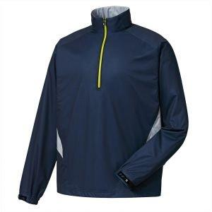 FootJoy Hydroknit Golf Pullover Navy/Grey Lime - 24790