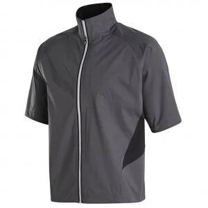 FootJoy  HydroKnit Short Sleeve Golf Rain Jacket - Charcoal/Black 23793
