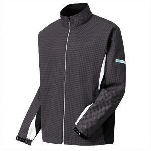 FootJoy Hydrolite Golf Rain Jacket Charcoal/Black Houndstooth - 23774
