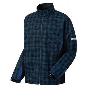 FootJoy Hydrolite Rain Jacket Black/Royal Plaid - 23788