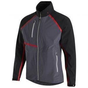 FootJoy HydroTour Golf Rain Jacket Black/Charcoal/Red 35376